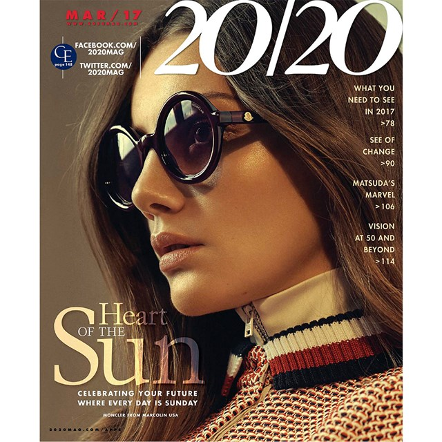 1af13e38ba ... 2020 MAGAZINE MARCH 2017 FEATURING KATE YOUNG FOR TURA WOMENS EYEWEAR  AND GX BY GWEN STEFANI