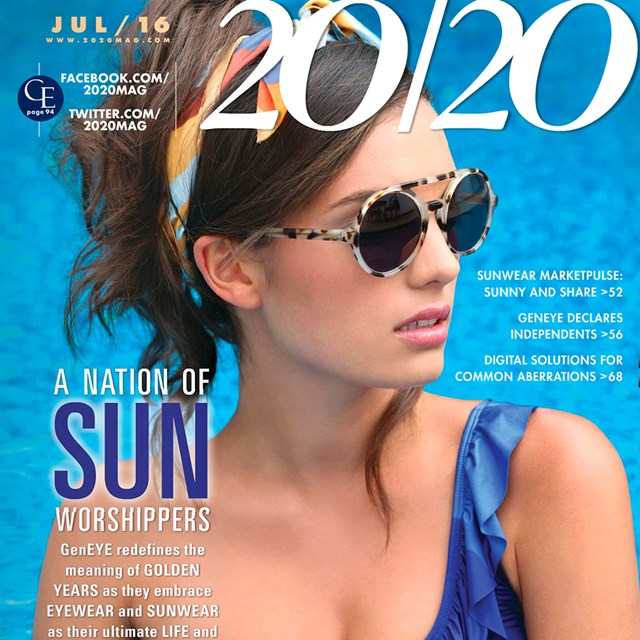 446d40753db2 2020 MAGAZINE FEATURING KATE YOUNG FOR TURA EYEWEAR COLLECTION