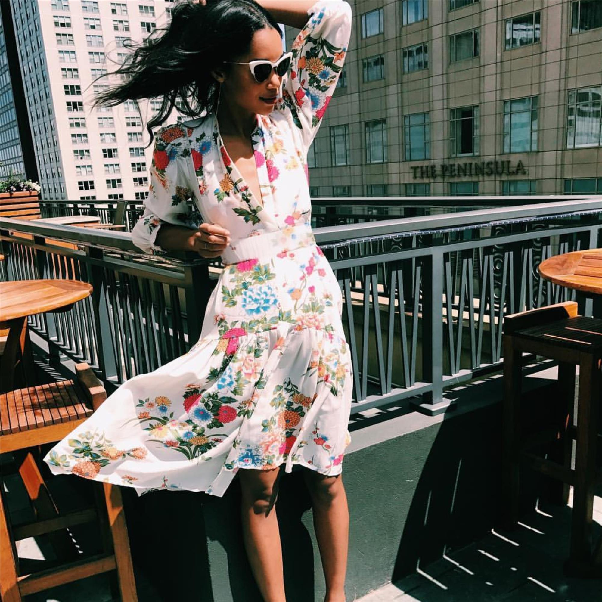 3bc1e7ef0f9 Laura Harrier Wearing Kate Young for Tura Style K529 CECILIA