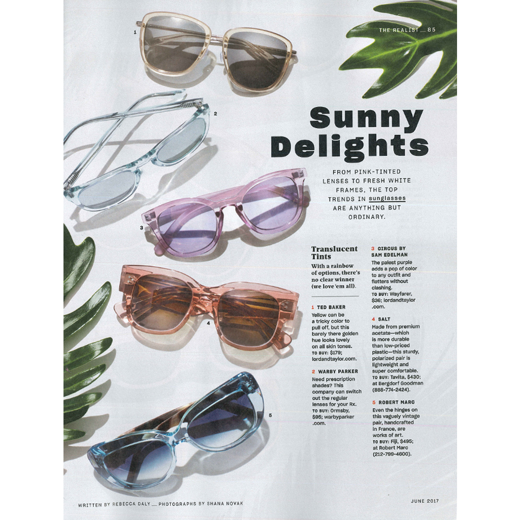 e3fb97e219 REAL SIMPLE MAGAZINE FEATURES TED BAKER EYEWEAR SUNGLASSES AND GWEN STEFANI  LAMB EYEWEAR SUNGLASSES ...