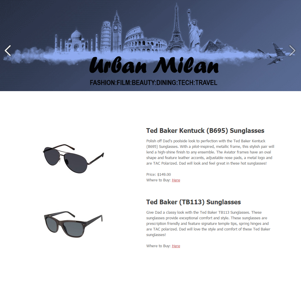 b877b3d960 URBAN MILAN FATHER S DAY GIFT GUIDE MUST HAVES TED BAKER MENS SUNGLASSES