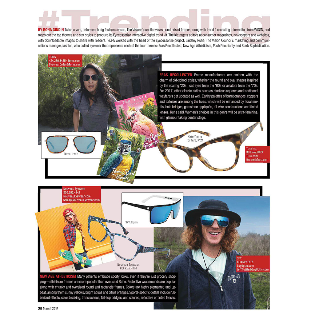 e40f419fd779 VCPN MAGAZINE MARCH 2017 KATE YOUNG FOR TURA AND TED BAKER EYEWEAR ...