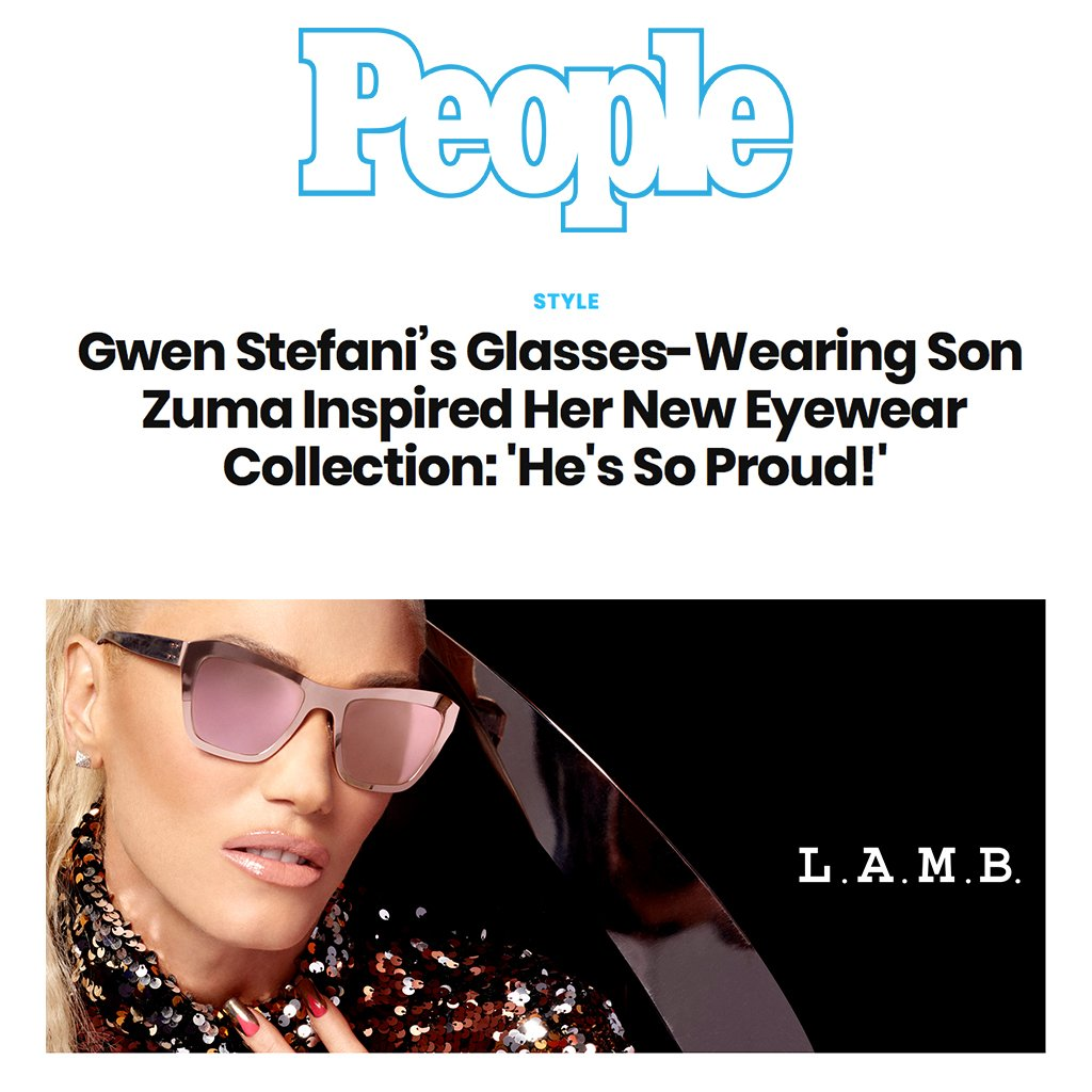 f2fc10552f0 Gwen Stefani s New Eyewear Is Inspired by Son Zuma - People