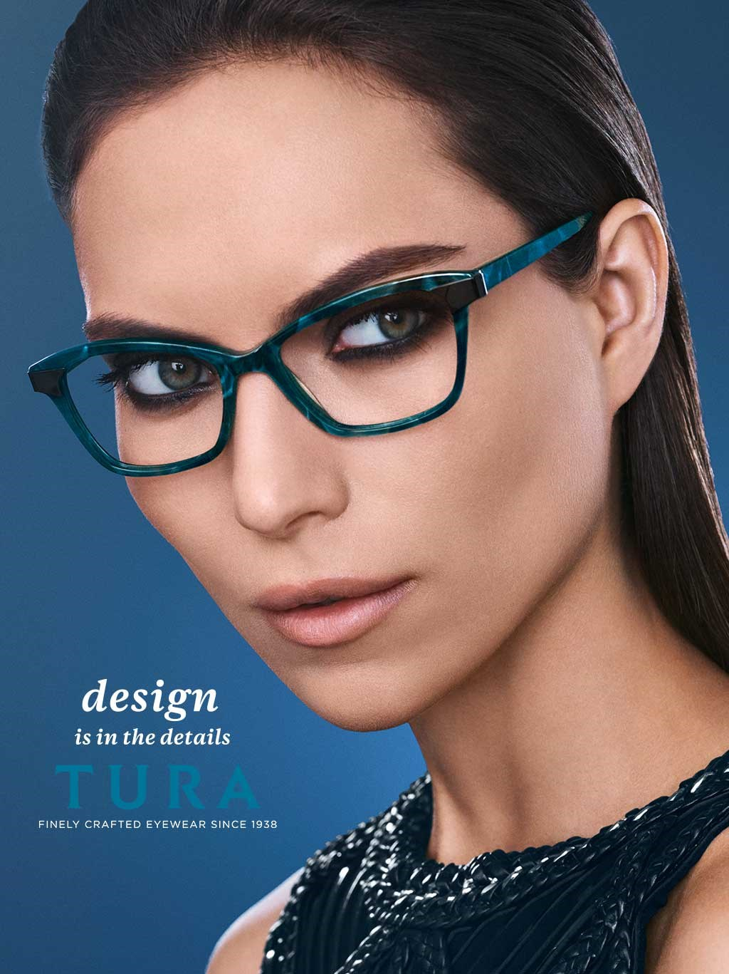 TURA FINELY CRAFTED EYEWEAR R546 TEAL