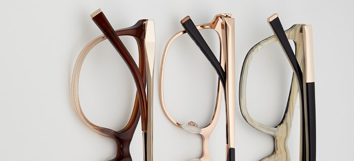 CELEBRITY STYLIST KATE YOUNG FOR TURA EYEWEAR SIGNATURE DETAILS BEVELLED METAL DECOR HARDWARE