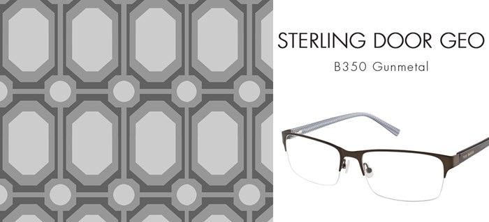 TED BAKER CUSTOM PRINTS GEOMETRIC STERLING DOOR GEO MORROCAN INSPIRED REPEAT PATTERN DESIGN